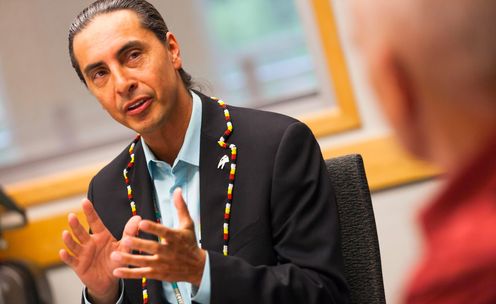 Grand Chief Arlen Dumas at a CABC Health Policy Roundtable in Winnipeg