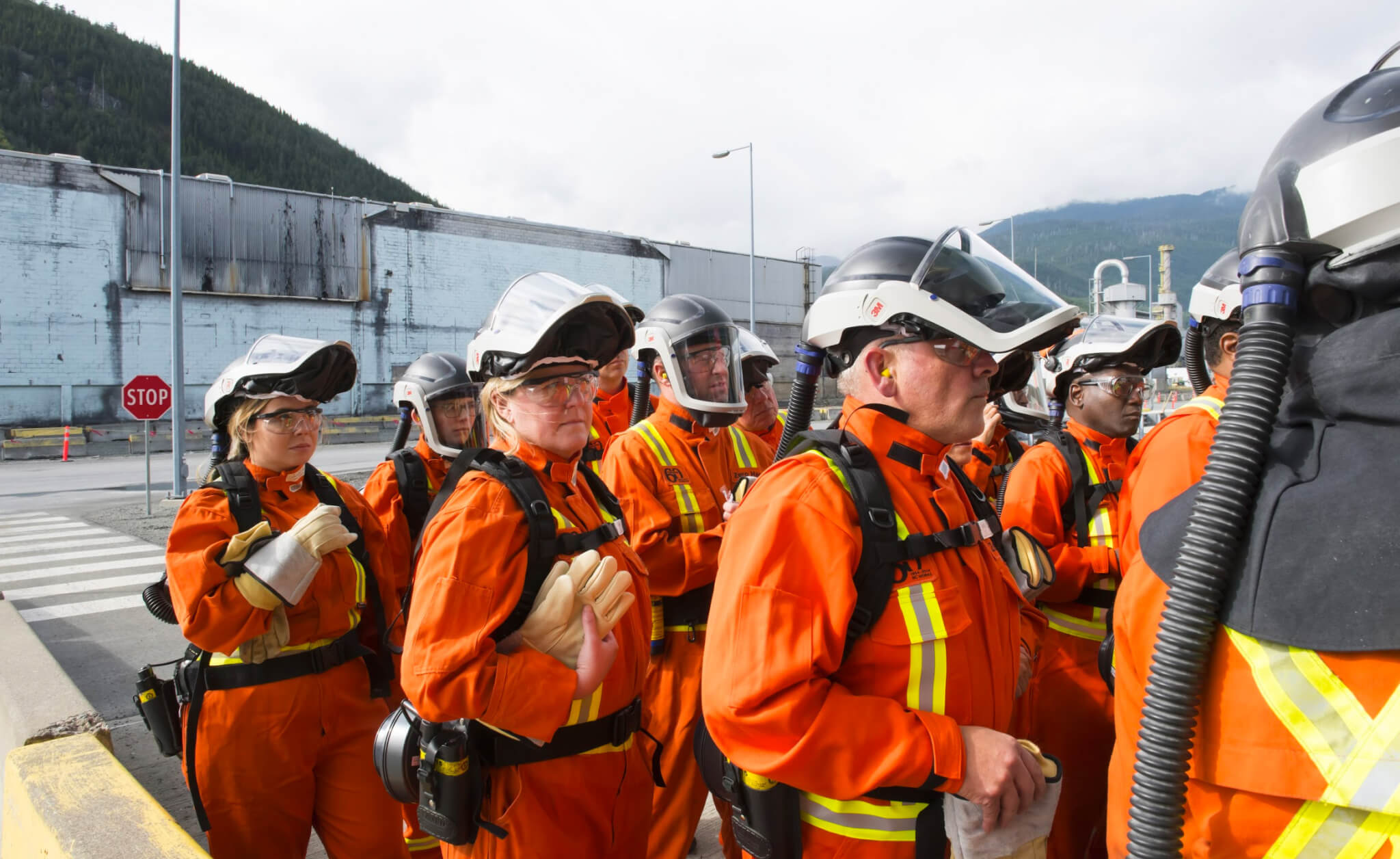 CABC board members tour the Rio Tinto facility in Kitimat, BC