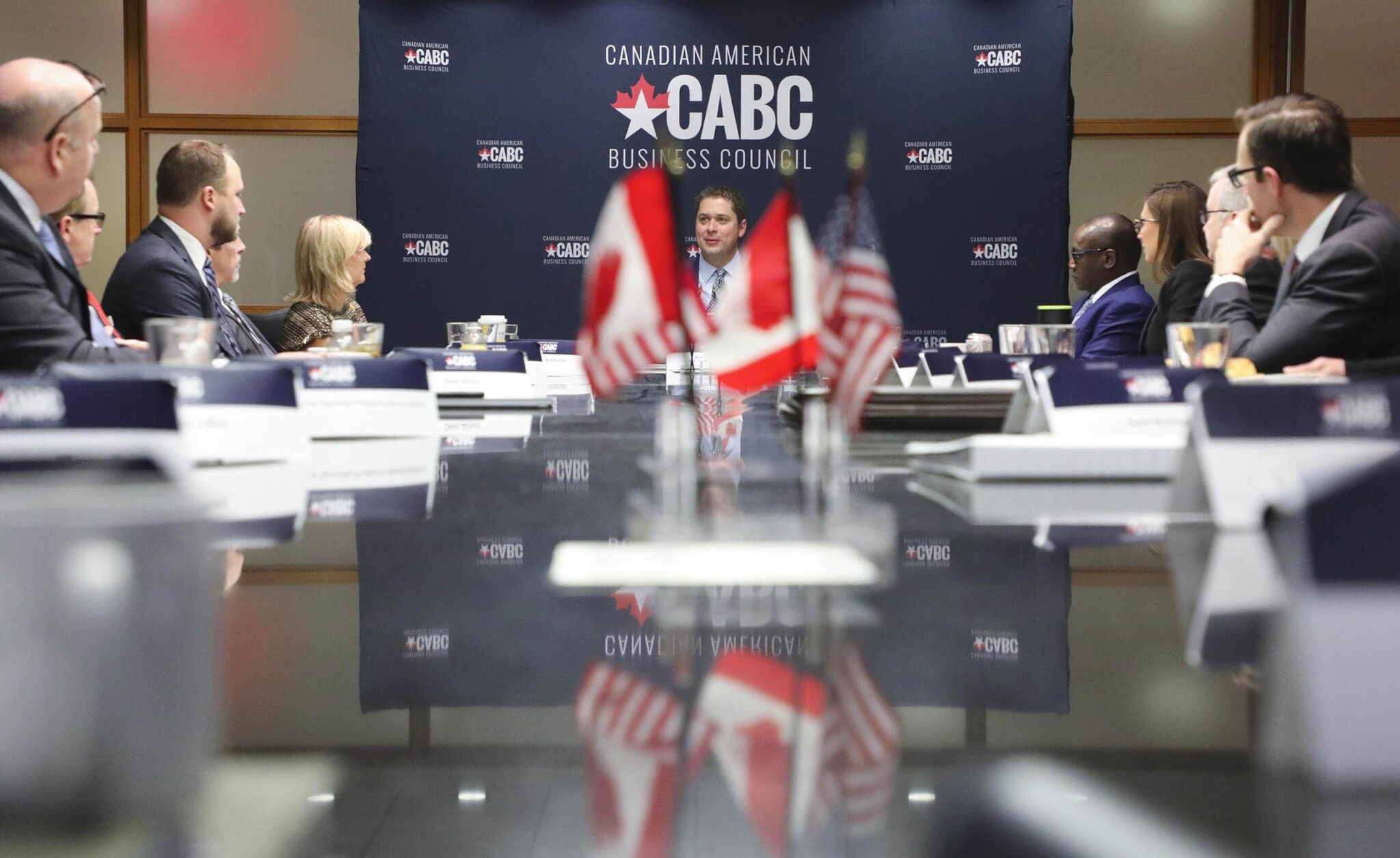 Leader of the Official Opposition Andrew Scheer at a CABC Roundtable in Washington, DC