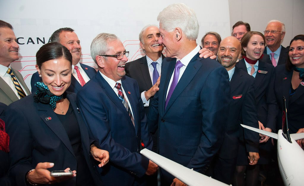 President Bill Clinton and Air Canada executives at a CABC event in Montreal