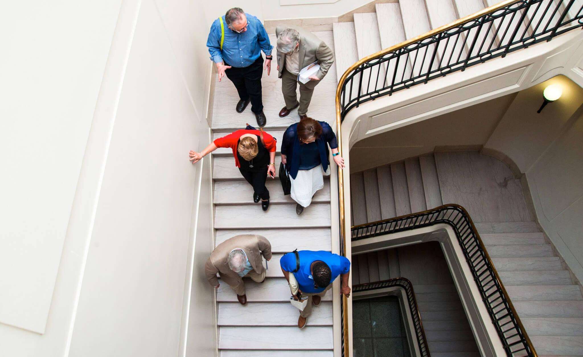 CABC members visit the legislature in Winnipeg, Manitoba