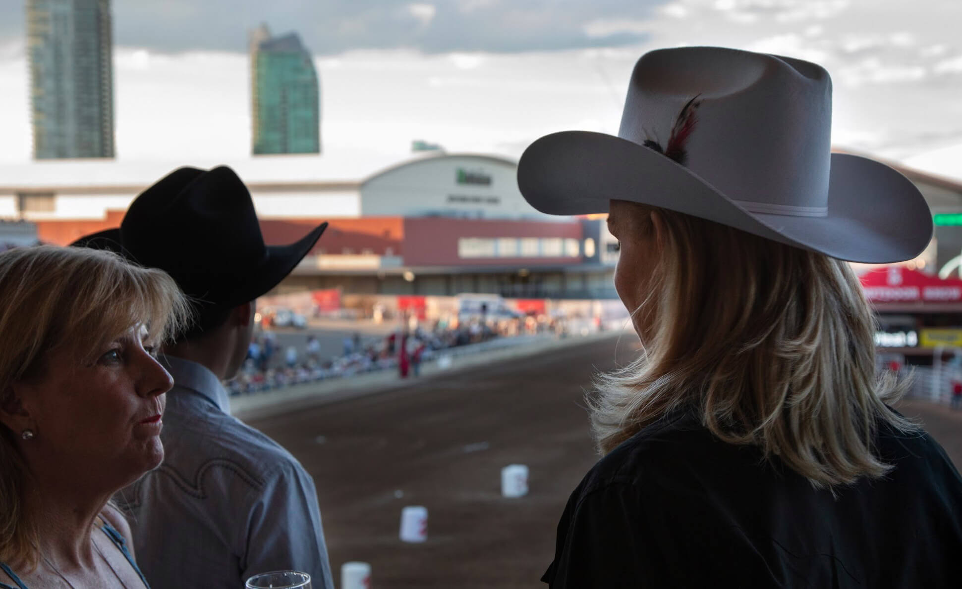 CABC Board Members Jenn Sloan, and Blair Dickerson at a CABC gathering at the Calgary Stampede