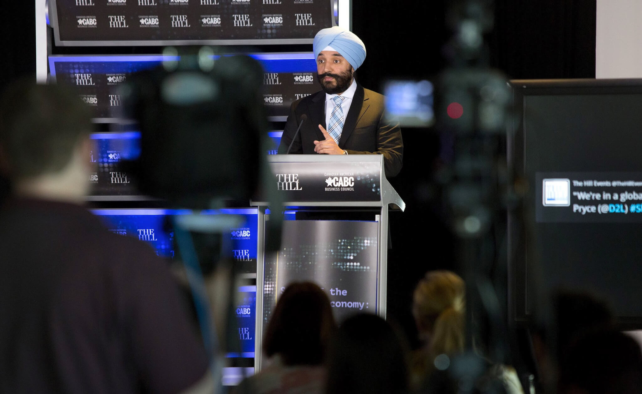 Canadian Innovation Minister Navdeep Bains at a CABC/Hill event in Washington, DC