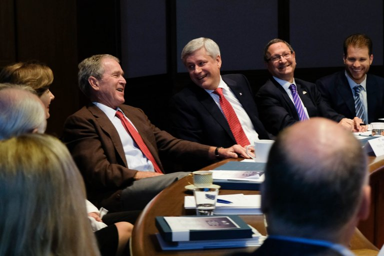 Dialogue with President Bush and Prime Minister Harper at the Bush Presidential Library in Dallas