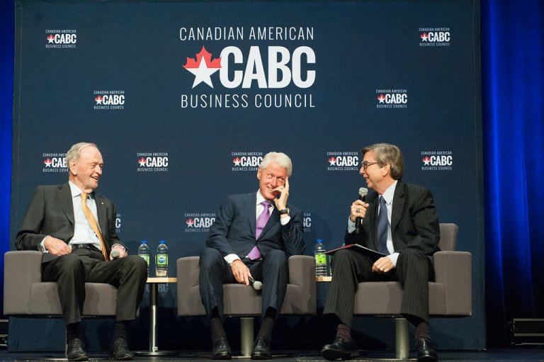 Dialogue with President Clinton and Prime Minister Chrétien in Montréal
