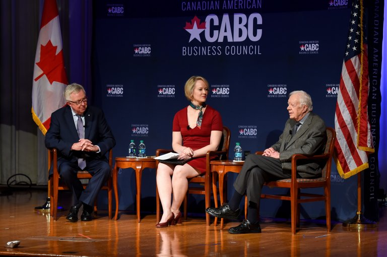 Dialogue with President Carter and Prime Minister Clark at the Carter Presidential Library in Atlanta