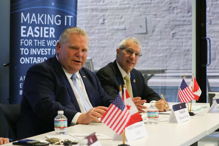 Roundtable with Premier Doug Ford and Minister Vic Fedeli in Washington