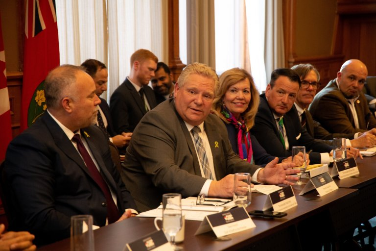 Roundtable with Premier Doug Ford in Washington